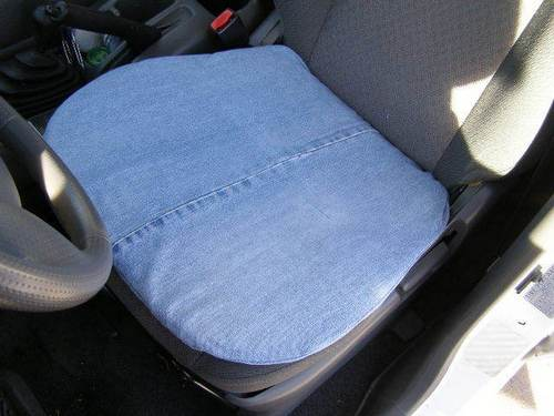 Denim seat cover