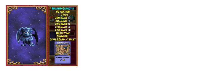 Wizard101 Gargoyle pet drop location