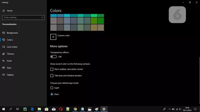 Dark View Windows 10