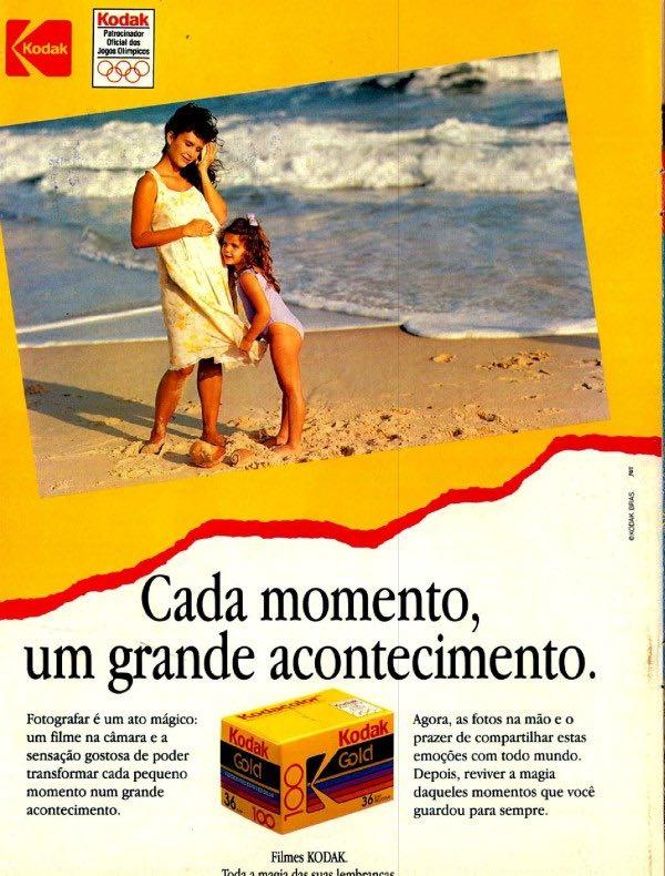 Anúncio da Kodak veiculado em 1992 promovendo seu filme fotográfico