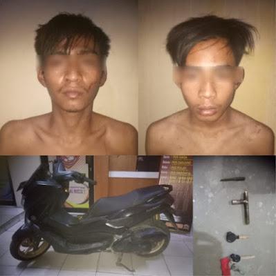 Polsek Cisoka Ringkus 2 Orang Pencuri Motor di Perumahan Taman Kirana Surya