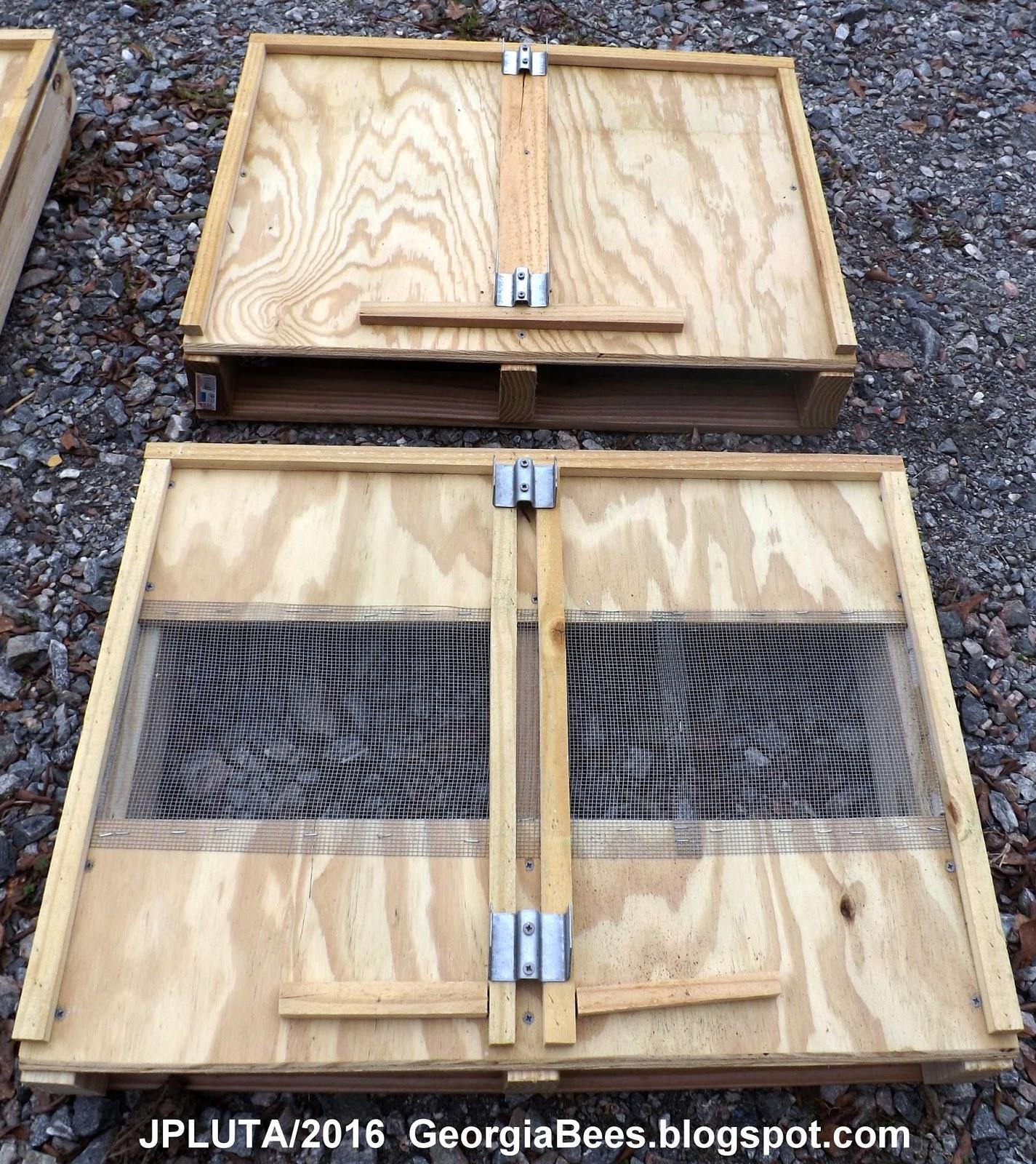 Screened bottom board pallets