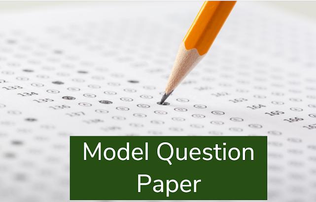 Model question paper Pdf