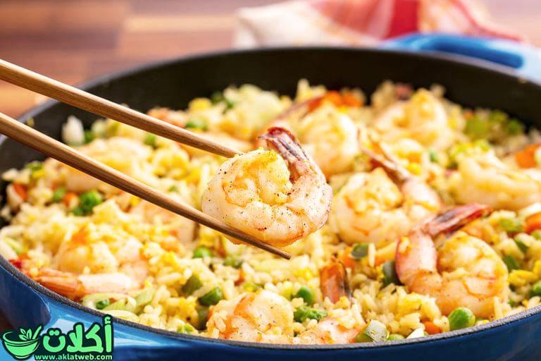طريقة عمل الأرز بالجمبرى