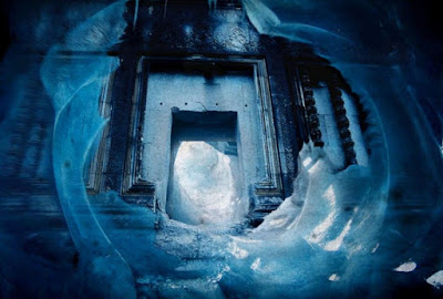 An artists impression of the supposed doorway under the ice in Antarctica.