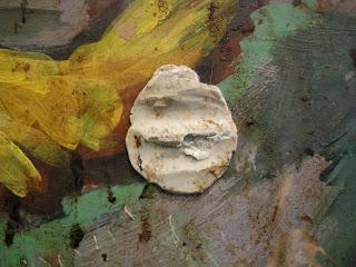 Lucebert, onderzoek aan muurschildering 'Vrede is eten met muziek'