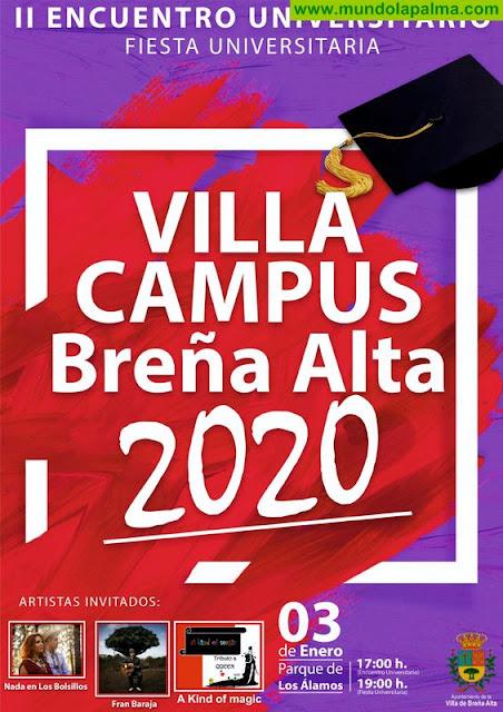Vuelve 'Villa Campus':  II Encuentro Universitario de Breña Alta con jornada de debate y fin de fiesta