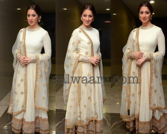 Lakshmi Rai Off White Salwar