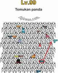 Level 99 Jawaban Brain Out Temukan Panda
