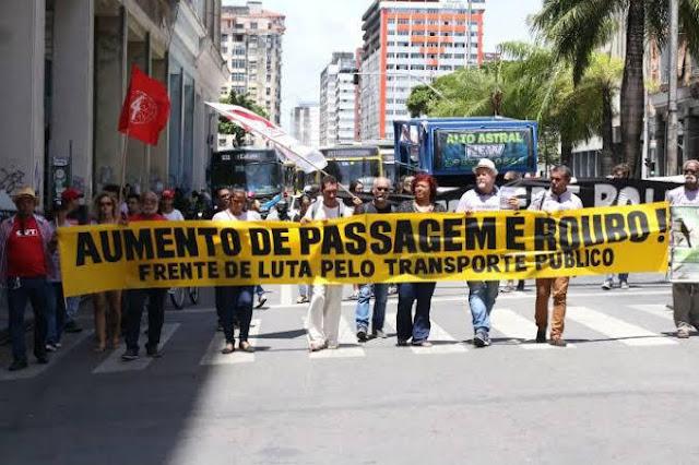 Frente de Luta defende congelamento da tarifa no Grande Recife