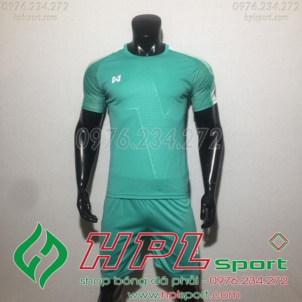 Áo bóng đá ko logo Warix HAT SG  Màu Xanh