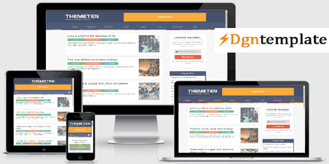 Themeten Responsive Blogger Template [free]