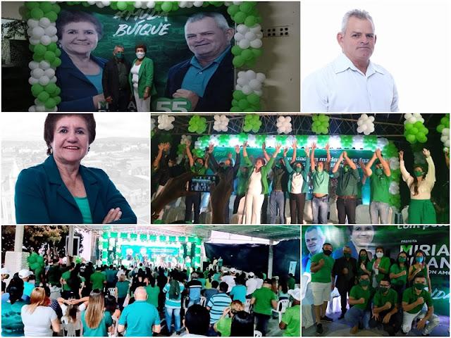 Marcada pelo cumprimento de todas medidas necessárias e respeito a população, convenção politica partidária homologa os nomes de Miriam Briano e Daidson Amorim candidatos a chapa majoritária em Buíque