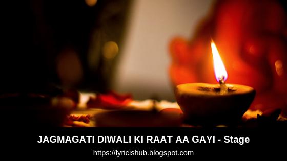 JAGMAGATI DIWALI KI RAAT AA GAYI - Stage |  Asha Bhosale | Lyricishub