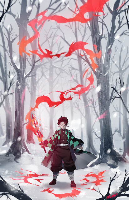 tanjiro kamado kimetsu no yaiba fire magic