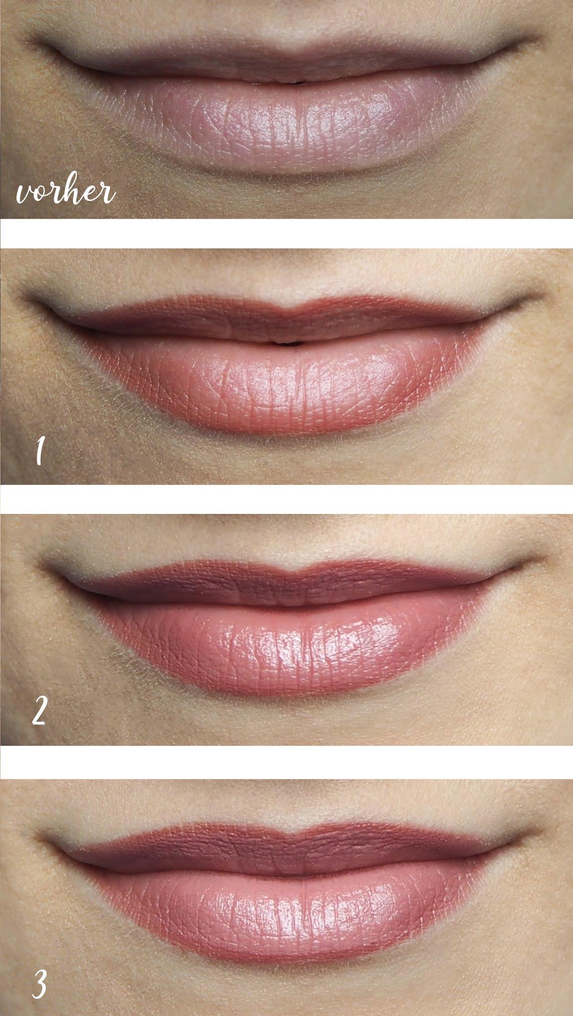 Lippen-Make-Up für den Hochzeitstag Schritt-für-Schritt