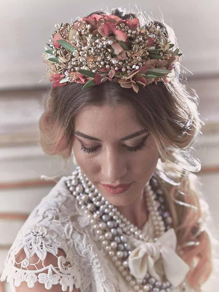 peinados de novia semi recogidos 2020