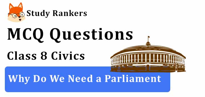 MCQ Questions for Class 8 Civics: Ch 3 Why Do We Need a Parliament