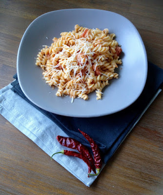 Pasta met wodkasaus of Bloody Mary pasta