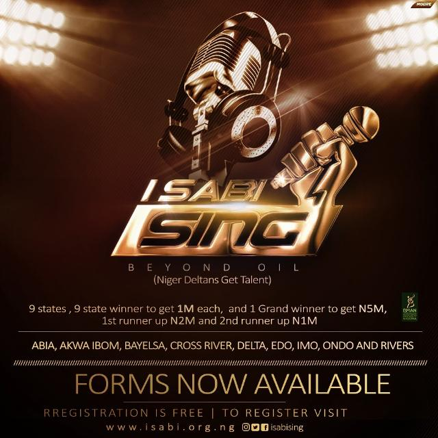 Do You Know How to Sing? Register For the Niger Delta Talent  Show, I Sabi Sing 2019