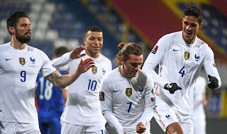 ملخص وهدف فوز فرنسا علي البوسنه والهرسك (1-0) تصفيات كأس العالم