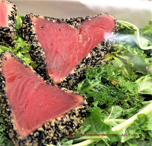 MISO seared SESAME CRUSTED TUNA, vindex tengker