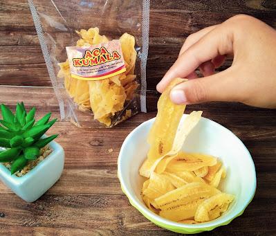 keripik pisang asal pisang enggano aca kumala bengkulu