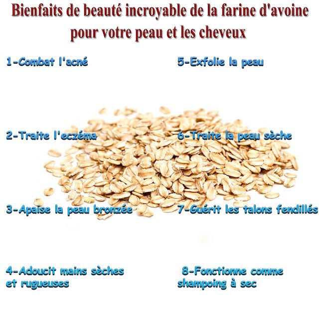 Bienfaits de beauté incroyable de la farine d'avoine pour votre peau et les cheveux