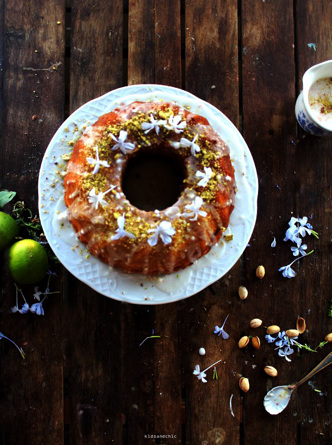 lemon lime pistachio bundt cake