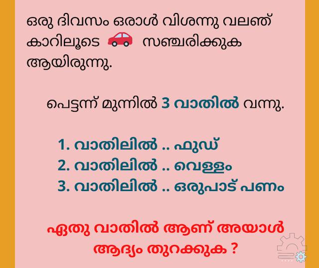 Malayalam Kusruthi Chodyam 2020 with Answer