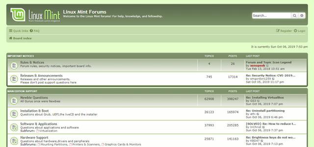 Linux Mint Forum