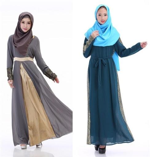 maxi dress muslimah terbaru 2017/2018