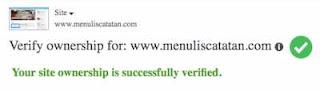 verifikasi blog