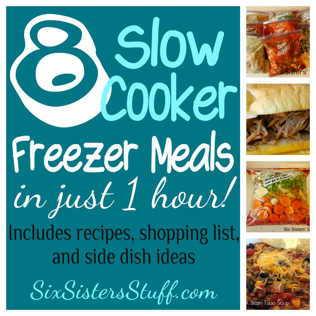 Slow Cooker Dinners: Slow Cooker Freezer Meals: Makes 8 Meals In 1 Hour!