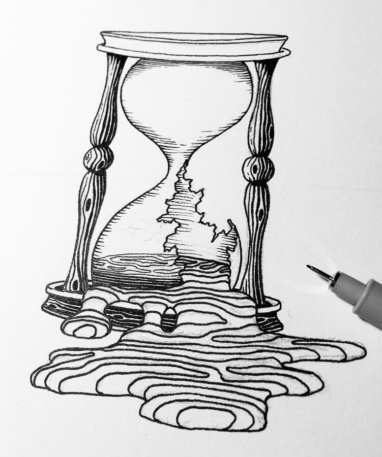 08-Broken-Time-and-Hourglass-Hannes-Hesselbarth-www-designstack-co