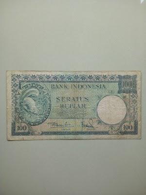 100 rupiah tahun 1957