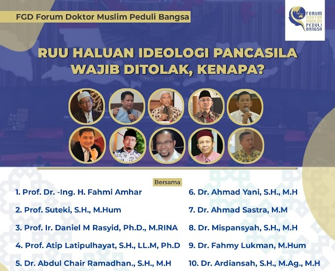 Pernyataan Sikap  Tolak dan Hentikan RUU Haluan Ideologi Pancasila