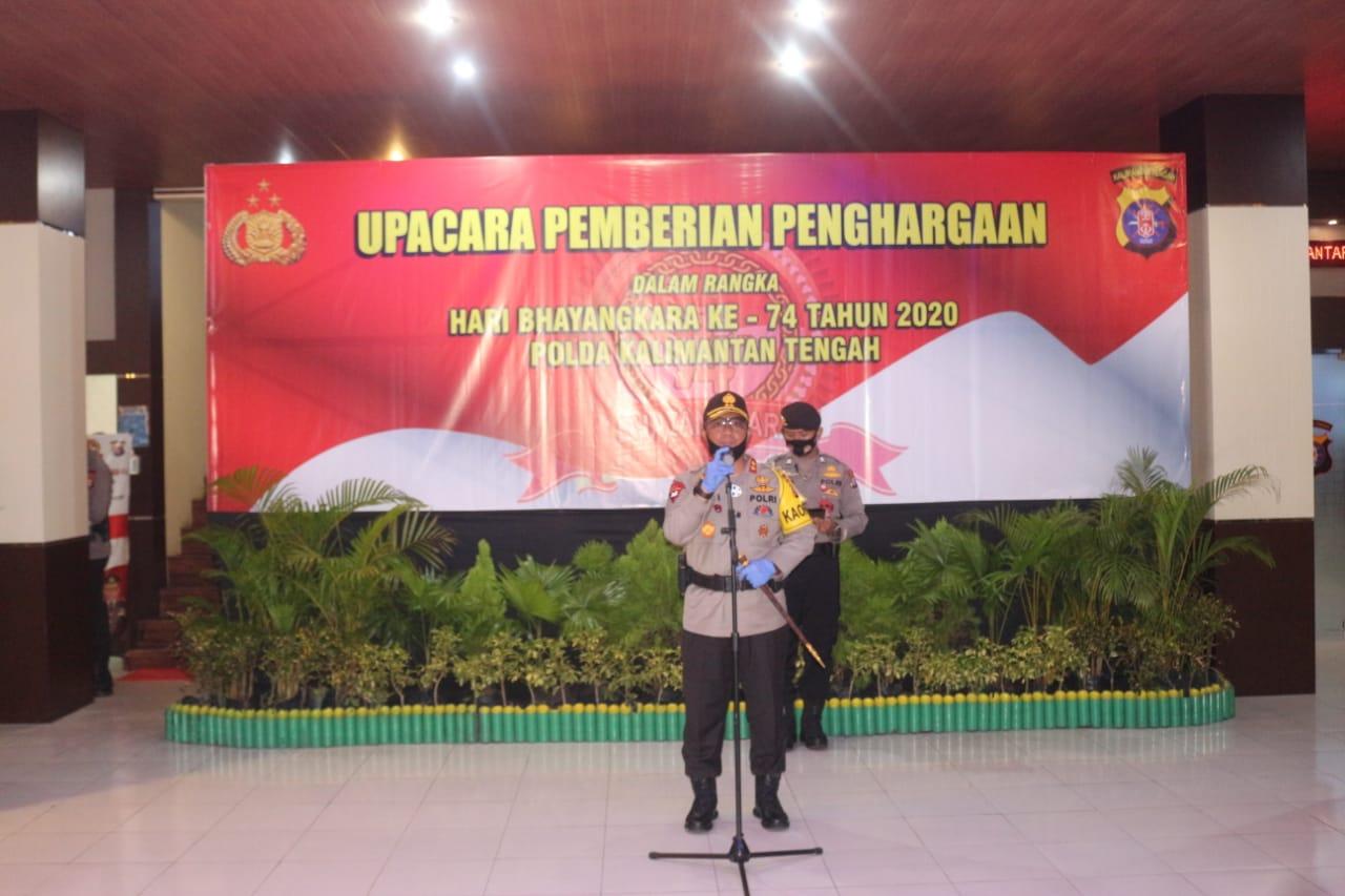 Kabid Humas: Kapolda Beri Penghargaan kepada 47 Personel Polda Kalteng