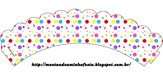 Sweet 16 Colored Dots for Girls Free Printable Wrappers Cupcake.