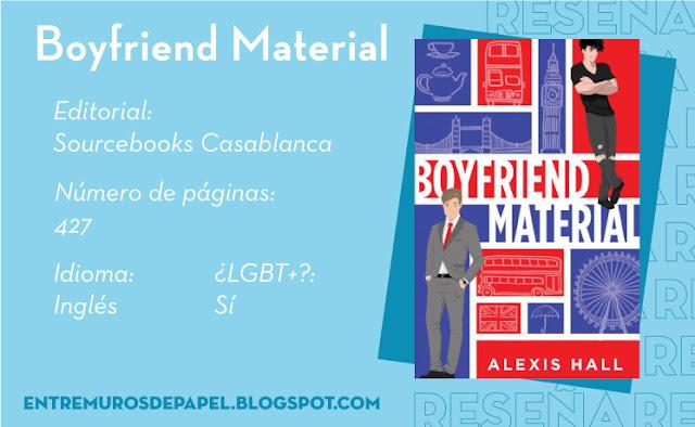 Boyfriend Material. Editorial Sourcebooks Casablanca. 427 páginas. Inglés. ¿LGBT+? Sí