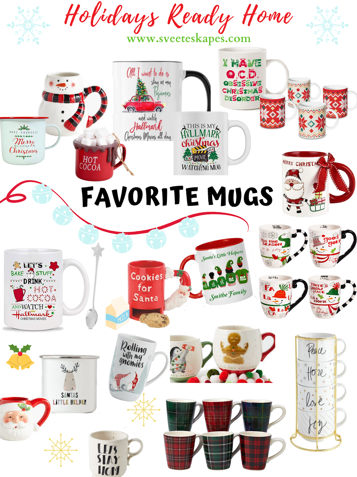 Affordable and Cute Holiday Mugs featured by top US lifestyle blog, Sveeteskapes