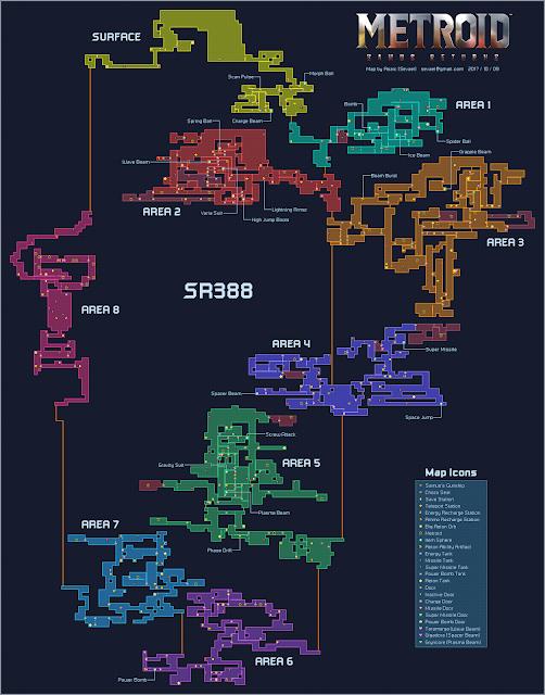 Metroid: Samus Return map