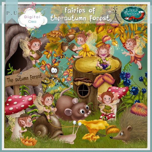 Fairies of the autumn forest by Lissa Designs
