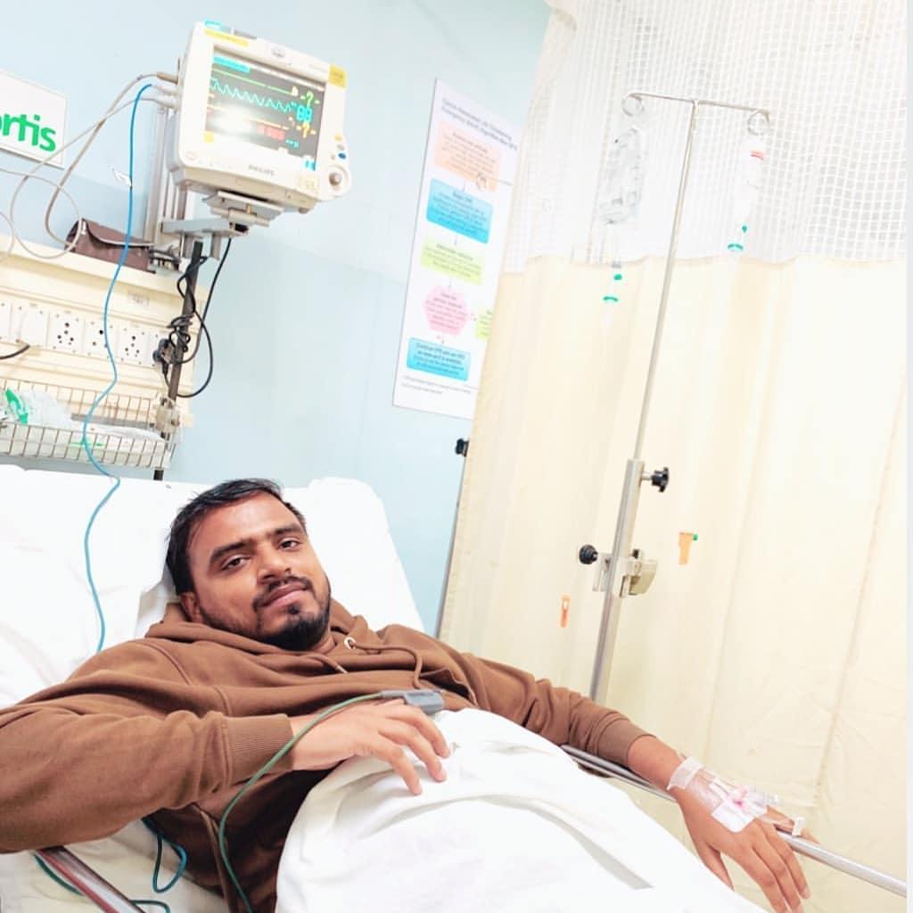 Amit Hospitalized