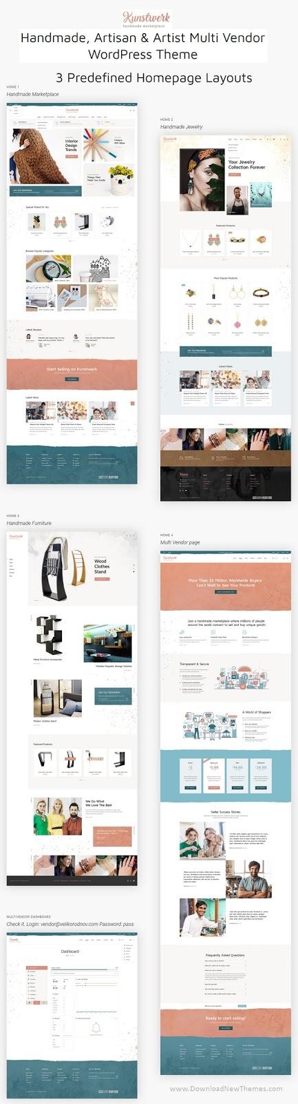 Handycraft Marketplace Website Theme