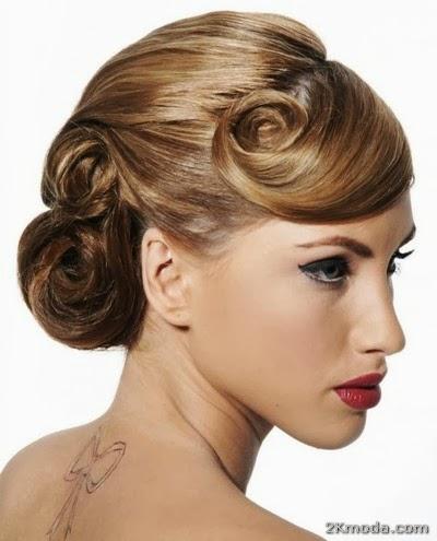 Strange Future Trends 2014 Bridal Hair Bun Models 2014 2014 Bride Hairstyle Inspiration Daily Dogsangcom