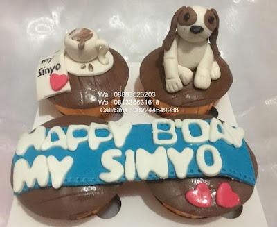 Cupcake Ultah Penggemar Anjing