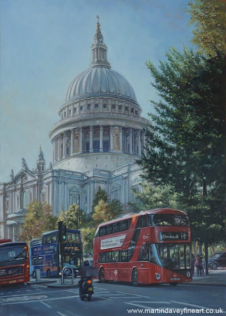 Martin Davey artwork of St Pauls London