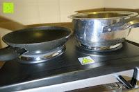 Pfanne klein: Andrew James – 23 Liter Mini Ofen und Grill mit 2 Kochplatten in Schwarz – 2900 Watt – 2 Jahre Garantie