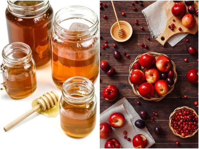 Mặt nạ mật ong và táo